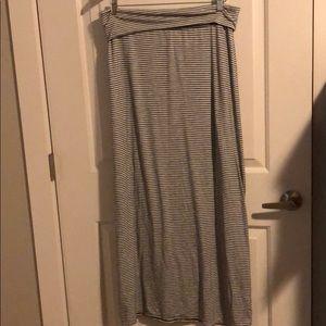Rolled waist maxi skirt